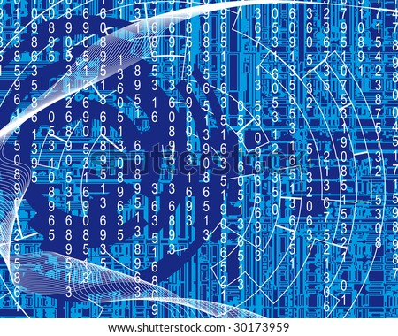 Abstract blue background (Version vector 19139149)
