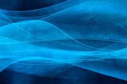 Abstract blue background, wave, veil and velvet texture - computer generated picture