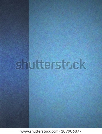abstract blue background web template or book cover with dark blue side banner layout with texture for elegant formal background paper