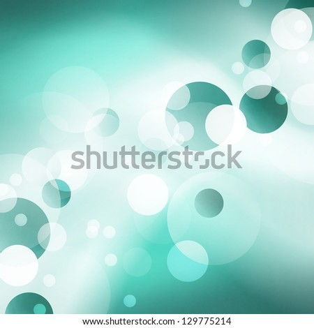 abstract blue background white light circles bokeh or lens flare design, abstract background geometric round circle shapes in random pattern, light blue background smooth texture, sky blue color tone
