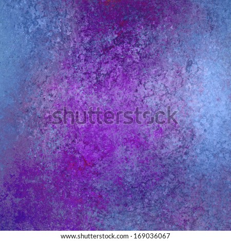 abstract blue background with purple grunge texture or spattered purple paint design for graphic art image use in product design or website backgrounds