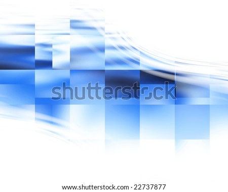 Abstract blue background with some cubic features in it