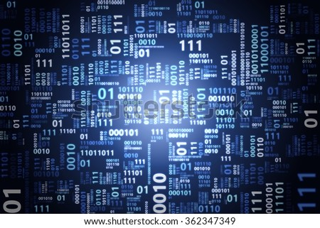 abstract blue binary code pattern background technology concept