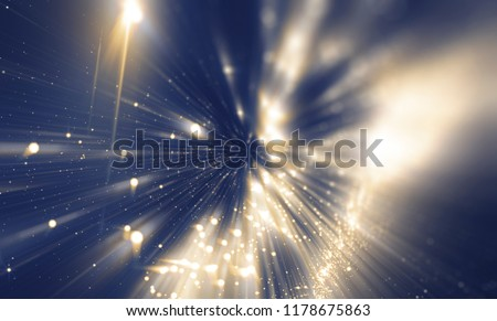 Abstract blue bokeh circles. Beautiful illustration background with particles.