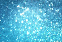 abstract blue bokeh lights, defocused background