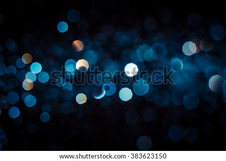 Abstract blue bokeh  texture on black background #383623150