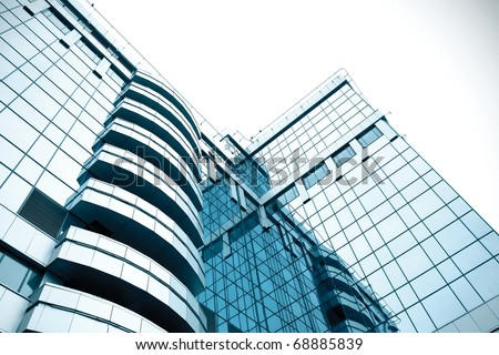 abstract blue building skyscraper