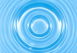 Abstract blue circle water drop ripple. Liquid texture background.