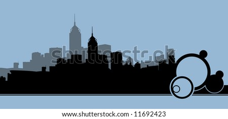 Abstract blue city background
