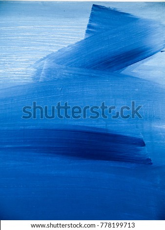 Abstract blue color painting background. Painting on canvas. Modern art. Contemporary art