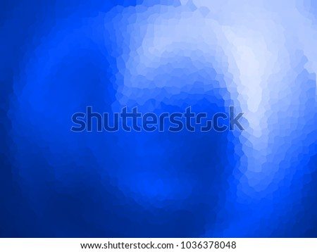 Abstract blue creative background, effect crystal.Abstract design