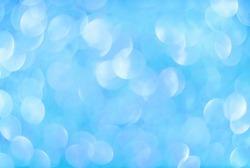 Abstract blue defocused aurora background