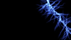 Abstract blue electric lighting effects lightning and thunder glow and sparkle effect. Light and shiny thunder strike