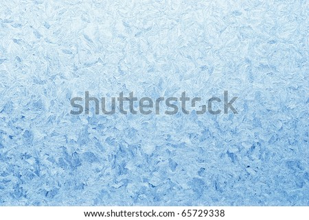 abstract blue frost background closeup