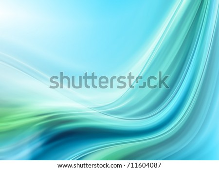 Abstract Blue-green