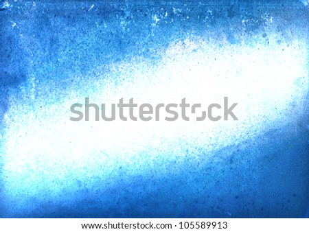Abstract blue grunge style on white paper background.
