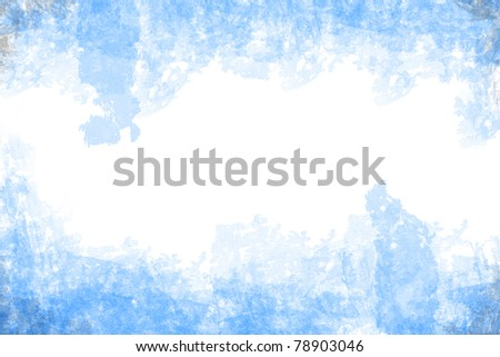 abstract blue grunge style on white paper background
