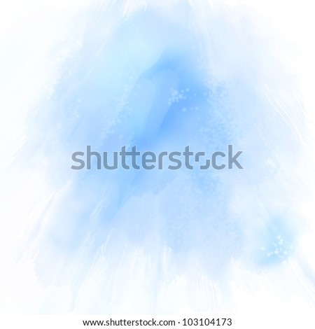 Abstract blue hand drawn oil  background, raster illustration