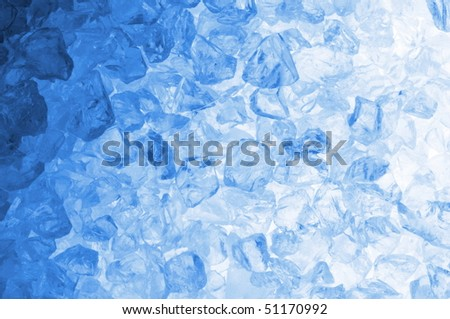abstract blue ice cube background for a hot summer