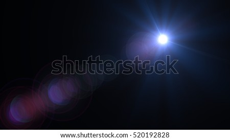 Abstract blue light.abstract lens flare background