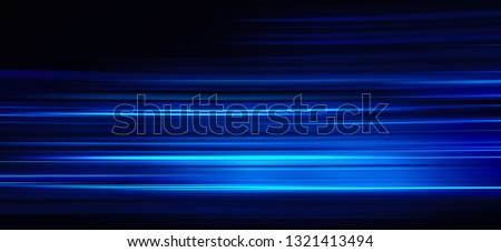 Abstract blue light trails on the dark background #1321413494