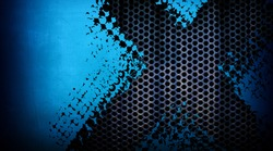 abstract blue metal mesh background