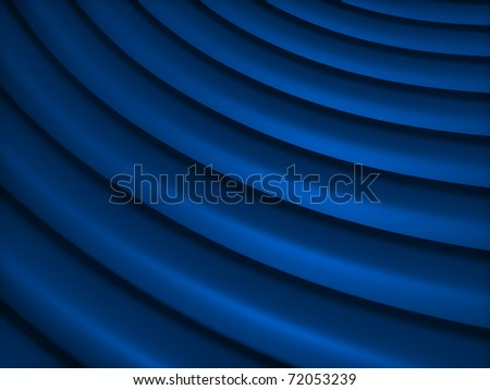Abstract blue metallic background with curve lines - stock photo