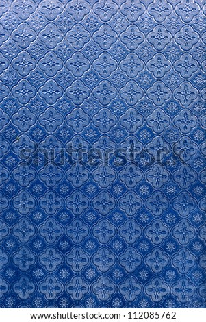 Abstract blue mirror as classic style