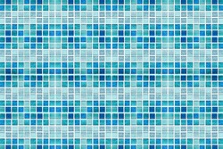 Abstract blue mosaic tiles for background