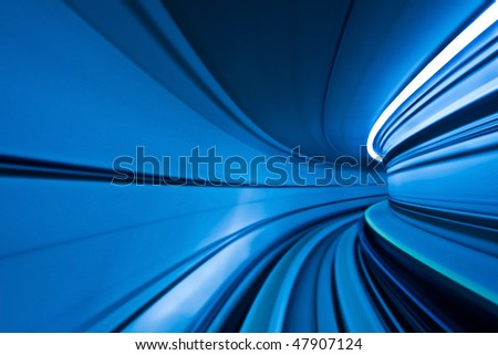 Abstract Blue Motion Curve.