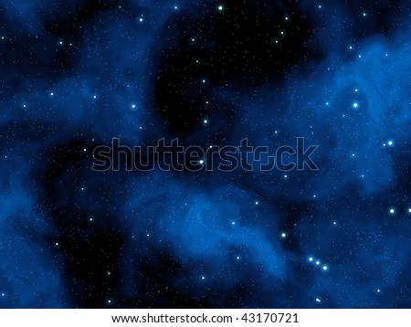 Abstract blue night sky with stars