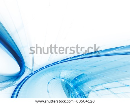 Abstract blue on white digital background