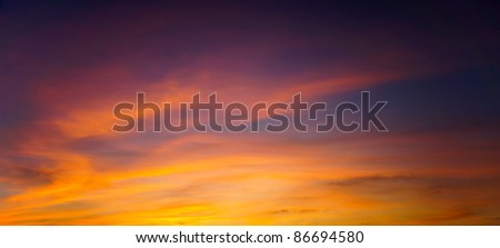 abstract blue - orange sky  panoramic