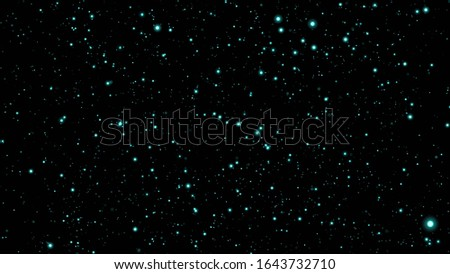 Abstract Blue Particles Background. Glow Particles with Bokeh Effect. Blue Glitter Particles
