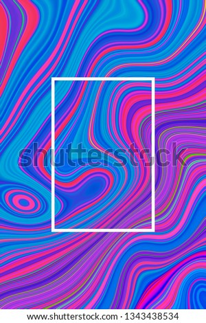 Abstract blue psychedelic poster background and hypnotic design graphic,  gradient. #1343438534