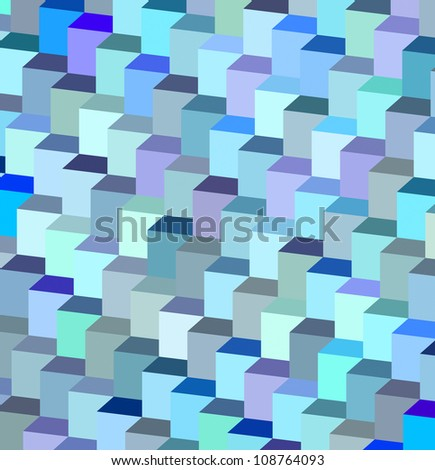 abstract blue purple cube pattern backdrop