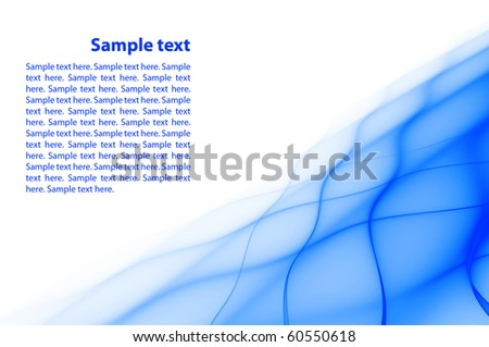 Abstract blue rippled background with copy space