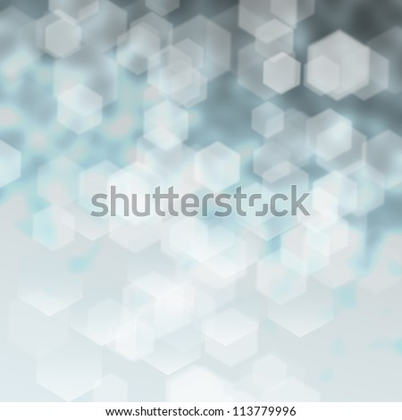 Abstract blue silver winter background