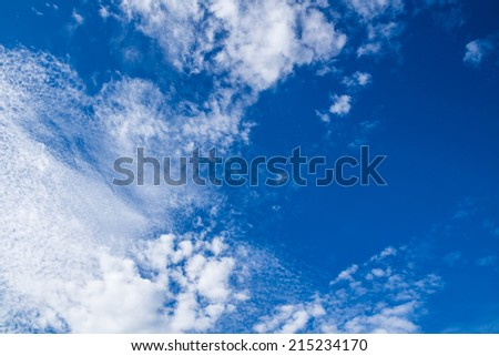 Abstract blue sky clouds. #215234170
