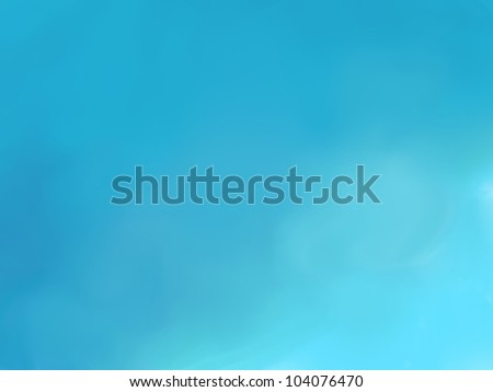 Abstract blue sky hand drawn background, raster illustration