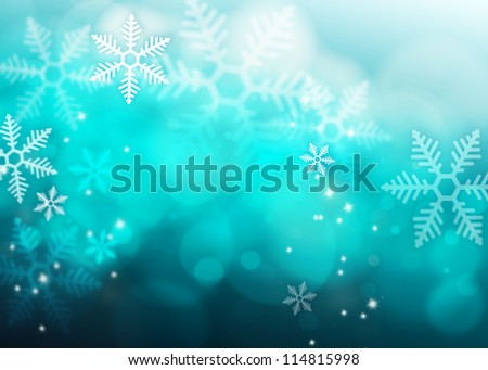 Abstract blue Snowflake background
