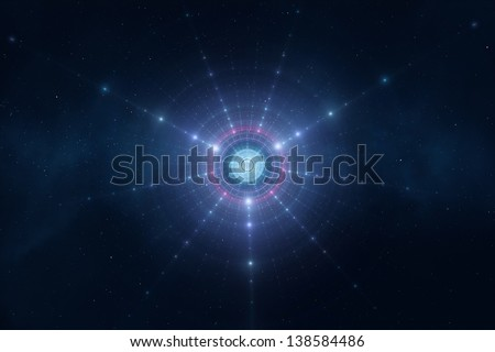 Abstract blue space stars futuristic new age background