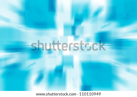 Abstract blue square background.