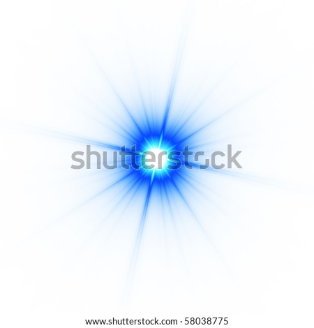 Abstract blue star isolated on white