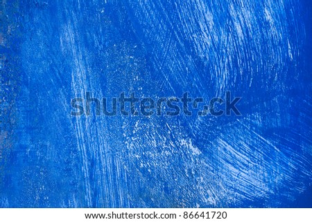 Abstract blue surface with white useful for background