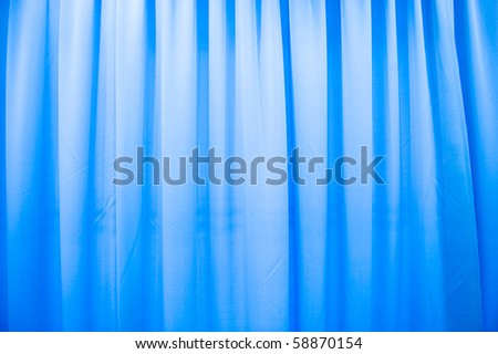 Abstract blue texture of drapery and linens.