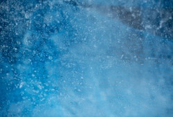 Abstract Blue Textured Background with Air Bubbles