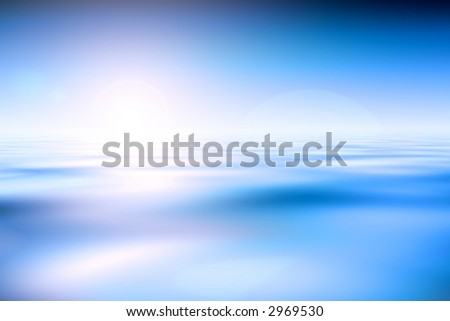 Abstract Blue Water And Sky Background