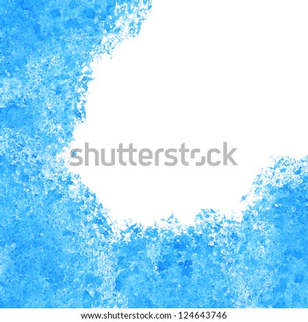Abstract blue watercolor background with space for text
