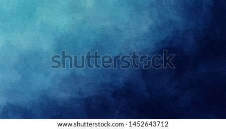Abstract blue watercolor gradient paint grunge texture background.